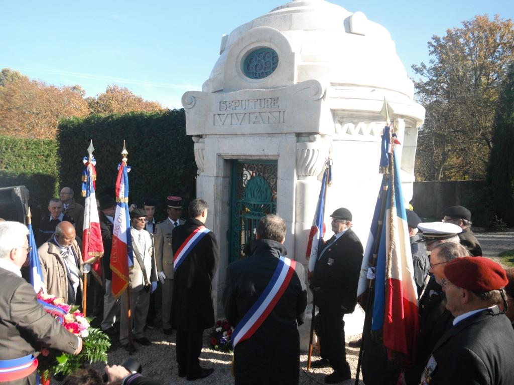 Mausolée VIVIANI - Cimetière de Seine-Port - 11 novembre 2014