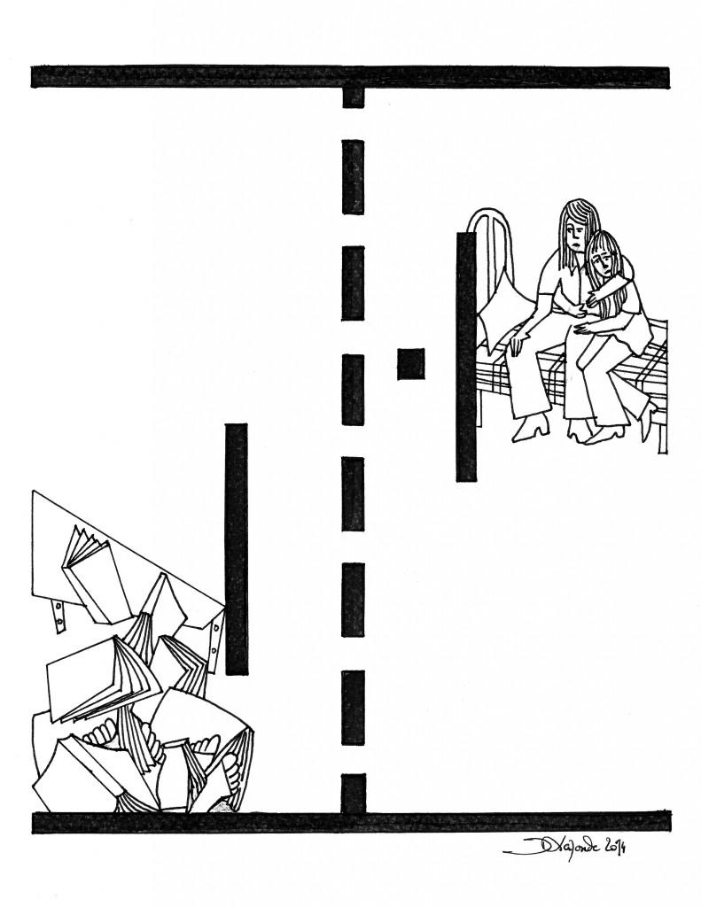 Illustration de Dominique Laronde pour Homes