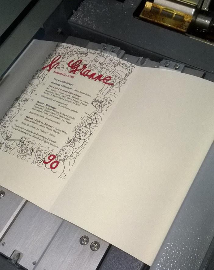 La couverture de La Grappe N°90 chez l'imprimeur