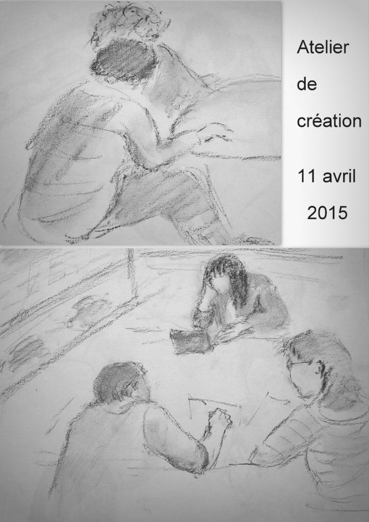 Croquis des participants par Monique Le Maoult Médiathèque des Cités Unies de Savigny-le-Temple